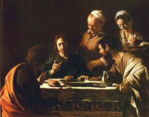 "Caravaggion ""Supper at Emmaus""  1606"